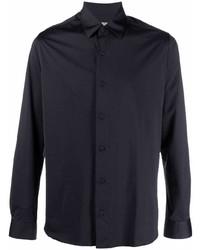 Camisa de manga larga negra de Canali