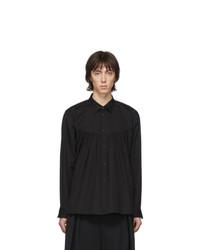 Camisa de manga larga negra de Comme Des Garcons Homme Plus
