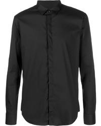 Camisa de manga larga negra de Emporio Armani