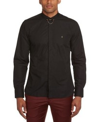Camisa de manga larga negra de Gabicci