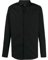Camisa de manga larga negra de Lanvin