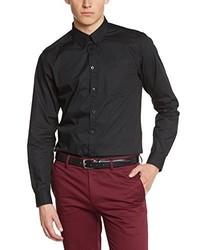 Camisa de manga larga negra de Merc of London