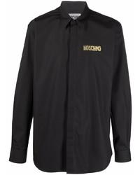Camisa de manga larga negra de Moschino