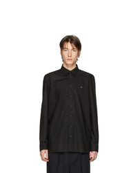 Camisa de manga larga negra de Raf Simons