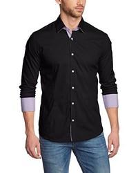 Camisa de manga larga negra de Redbridge