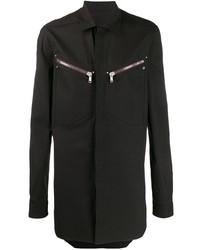 Camisa de manga larga negra de Rick Owens