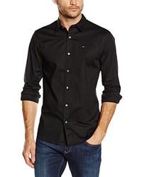 Camisa de manga larga negra de Tommy Hilfiger