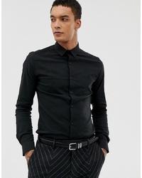 Camisa de manga larga negra de Twisted Tailor