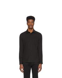 Camisa de manga larga negra de Z Zegna