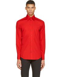 Camisa de manga larga roja de Dolce & Gabbana