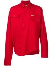 Camisa de manga larga roja de Off-White