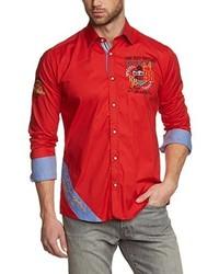 Camisa de manga larga roja de Redbridge