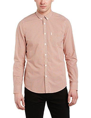 Camisa de manga larga rosada de Ben Sherman