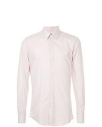 Camisa de manga larga rosada de Dolce & Gabbana