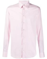 Camisa de manga larga rosada de Emporio Armani