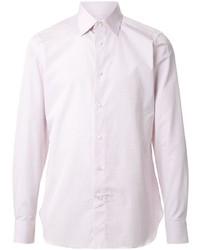 Camisa de manga larga rosada de Ermenegildo Zegna