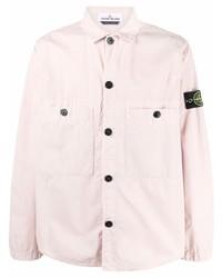 Camisa de manga larga rosada de Stone Island