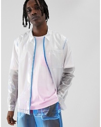 Camisa de manga larga transparente