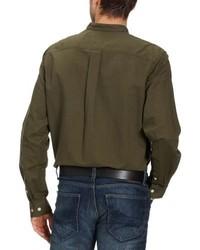 Camisa de manga larga verde oliva de Eddie Bauer