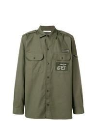 Camisa de manga larga verde oliva de Givenchy