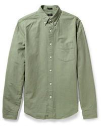 Camisa de manga larga verde oliva de J.Crew