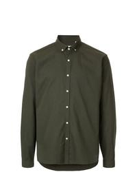 Camisa de manga larga verde oliva de Oliver Spencer