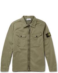 Camisa de manga larga verde oliva de Stone Island