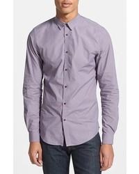 Camisa de manga larga violeta claro