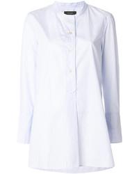 Camisa de rayas verticales celeste de Isabel Marant