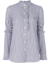 Camisa de rayas verticales celeste de See by Chloe
