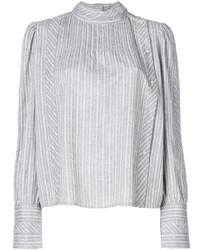 Camisa de rayas verticales gris de Etoile Isabel Marant