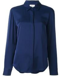 Camisa de seda azul marino de DKNY