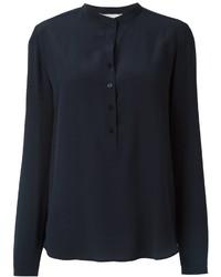 Camisa de seda azul marino de Stella McCartney