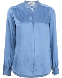 Camisa de seda azul de L'Agence