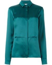 Camisa de seda en verde azulado de Maison Margiela