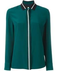 Camisa de seda en verde azulado de Rag & Bone