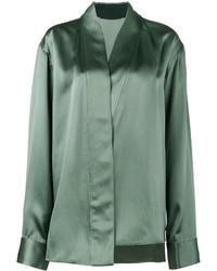 Camisa de seda en verde menta de Haider Ackermann