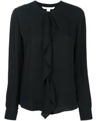 Camisa de seda negra de Diane von Furstenberg