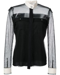 Camisa de seda negra de Lanvin