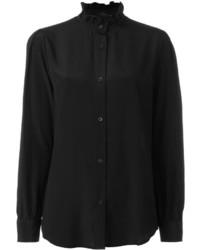 Camisa de seda negra de Love Moschino