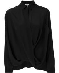 Camisa de seda negra de Moschino