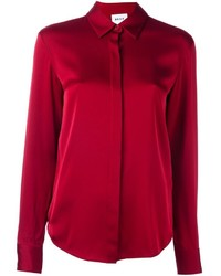 Camisa de seda roja de DKNY