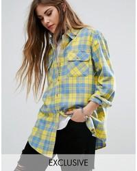 Camisa de tartán amarilla de Reclaimed Vintage