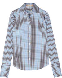 Camisa de tartán celeste de Michael Kors