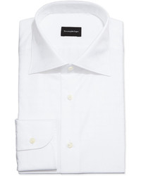 Camisa de Vestir a Cuadros Blanca