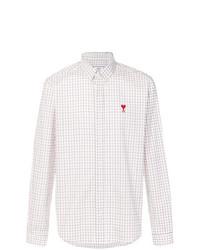 Camisa de vestir a cuadros blanca de AMI Alexandre Mattiussi