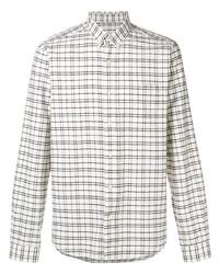 Camisa de vestir a cuadros blanca de Ami Paris