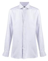 Camisa de vestir a cuadros blanca de Ermenegildo Zegna