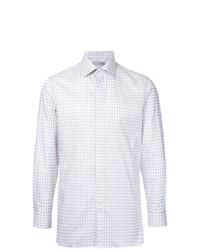 Camisa de vestir a cuadros blanca de Gieves & Hawkes