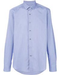 Camisa de Vestir a Cuadros Celeste de Lanvin
